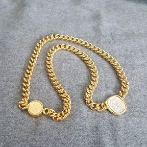 Louis Vuitton Silver/Gold ID Necklace
